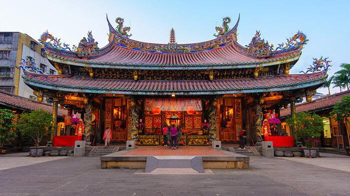 Bao An temple in Taipei Taiwan