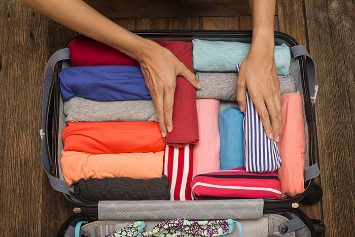 Create More Space By Rolling Clothes