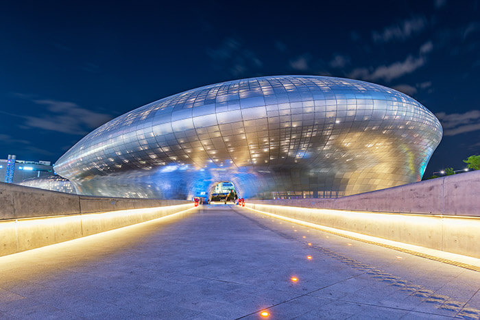 Dongdaemun Design Plaza at Night