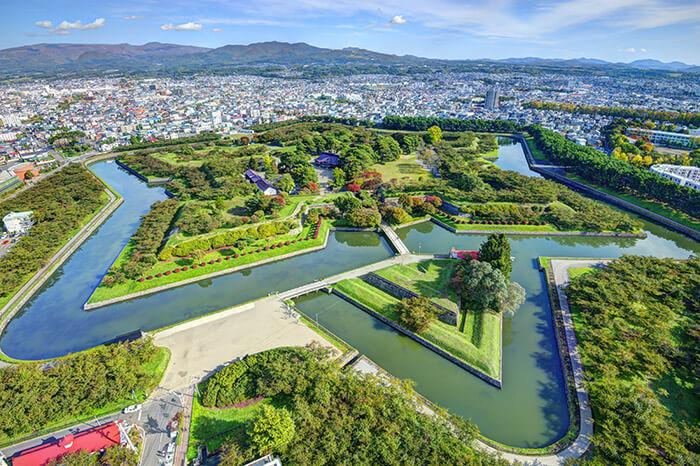 Goryokaku Park in Hakodate Hokkaido