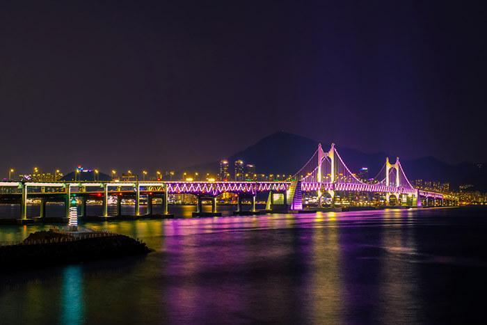 Gwangan bridge in Busan