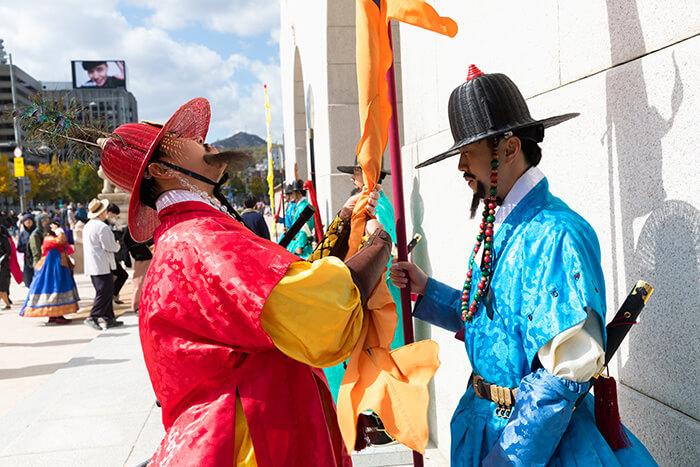 Gyeongbokgung Palace gatekeeper costume