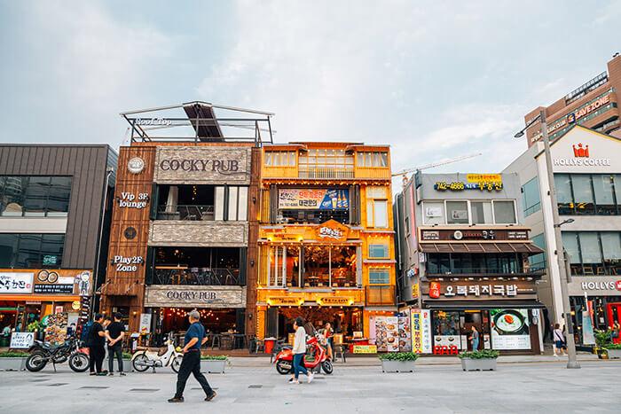 Haeundae beach restaurant street