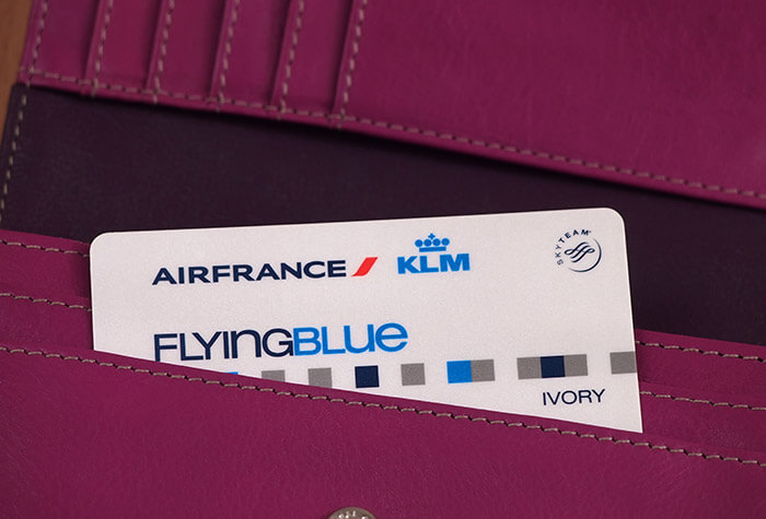 KLM card in wallet