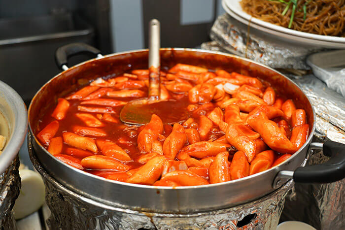 Korean spicy food tteokbokki