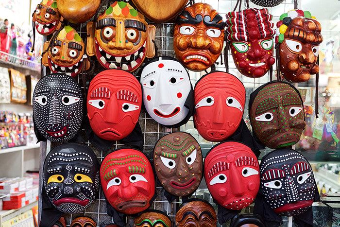 Korean wooden masks