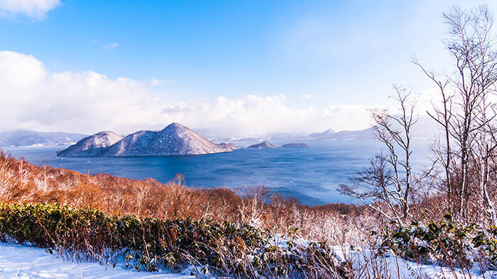 Lake Toya in Hokkaido winter