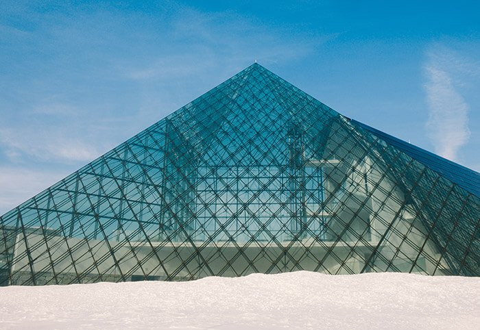 Moerenuma park glass pyramid