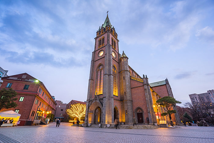Myeongdong Cathedral in Seoul