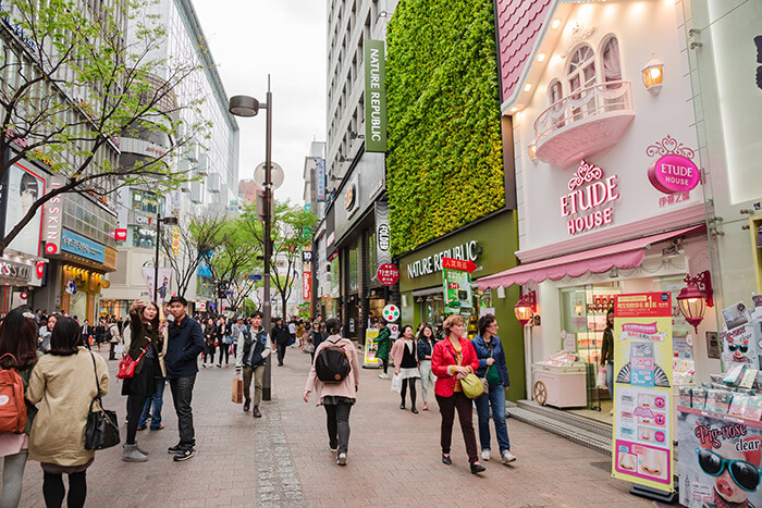 Myeongdong commercial area
