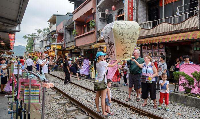 Pingxi Old Street Sky Lanterns