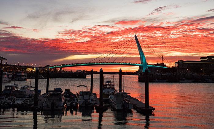 Tamsui Fisherman's Wharf sunset