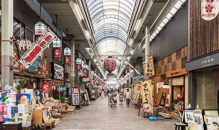 Tenjinbashisuji Shopping Street in Osaka