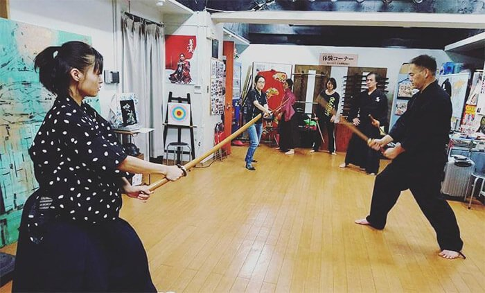Theatrical Samurai Sword Fighting