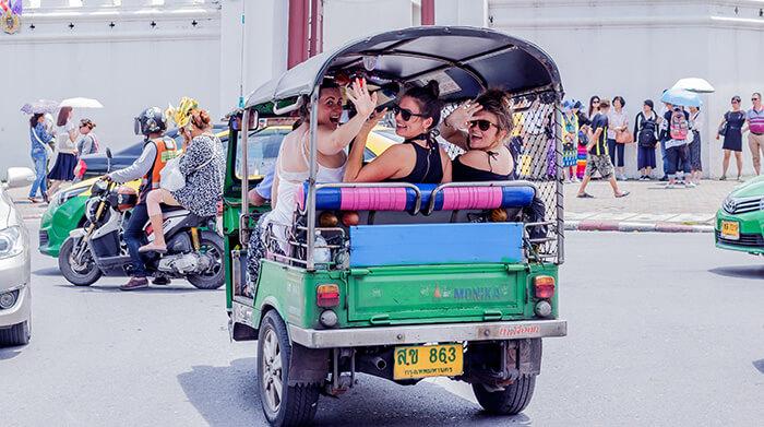 Tourists in Tuk-Tuk