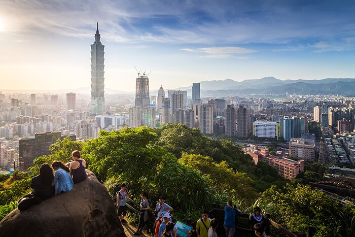 View of Taipei City From Elephant Mountain