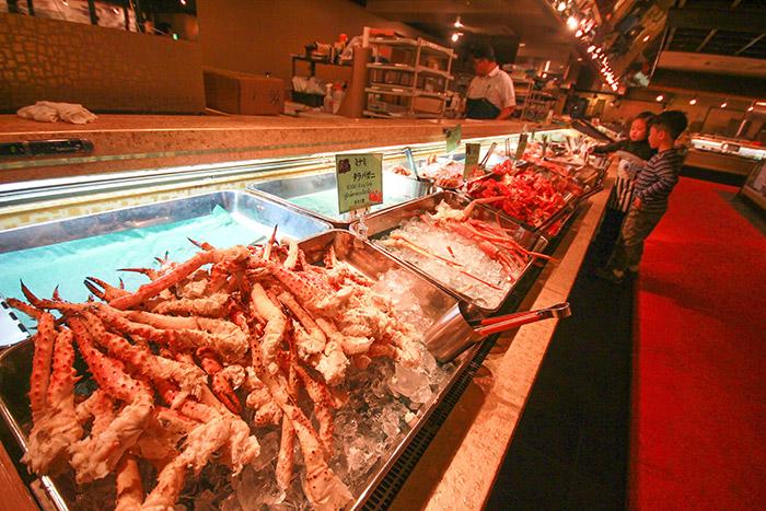 crab buffet in hokkaido