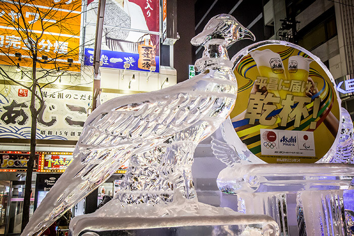 ice sculpture in Sapporo Snow Festival