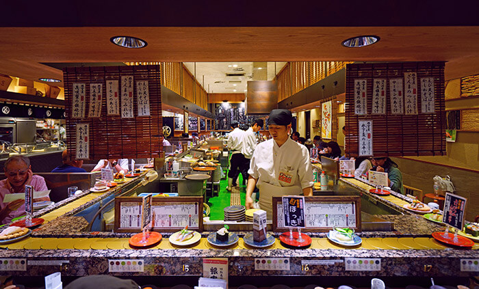 kaitenzushi conveyor belt sushi