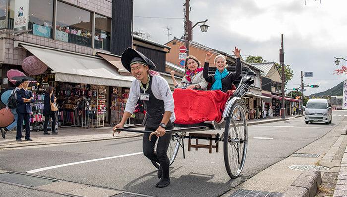 rickshaw tour in kyoto