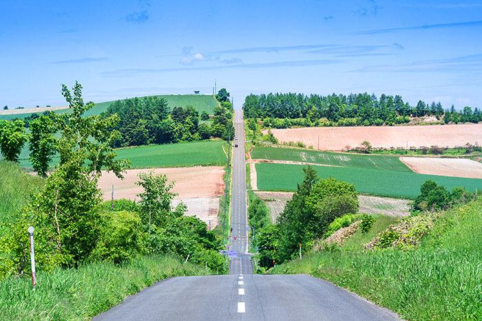 roller coaster road Biei Hokkaido