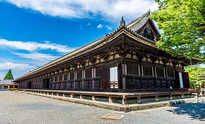 sanjusangendo temple in Kyoto