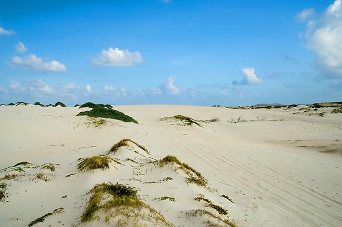 California Sand dunes. Aruba