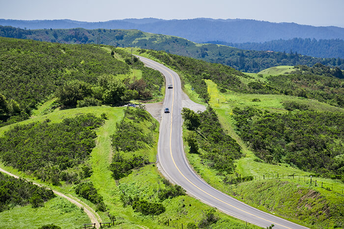 Cars driving on Skyline Boulevard