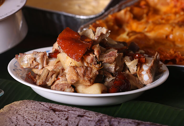 Chopped Parts of Lechon or Suckling Pig