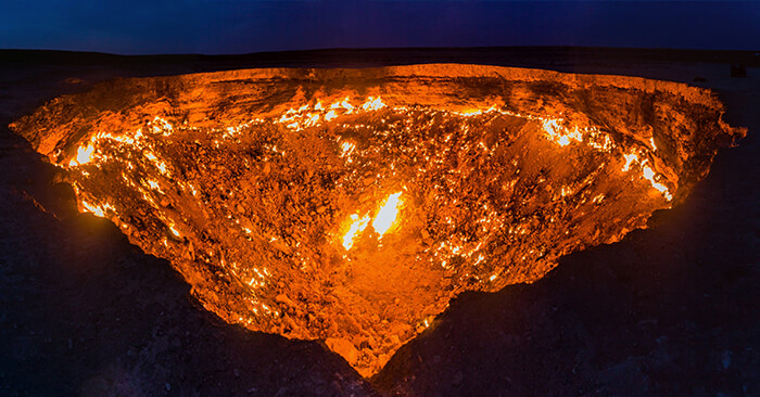 Darvaza (Derweze) gas crater