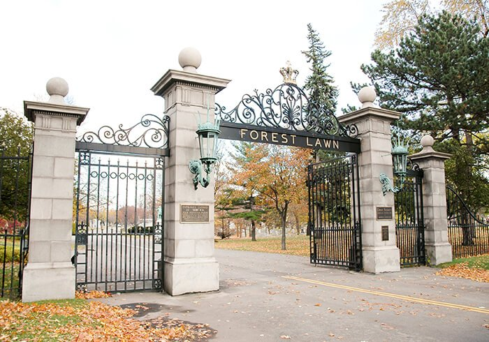 Forest Lawn Cemetery gate