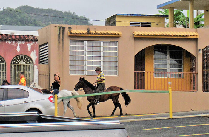 Horse-back riding in Ciales