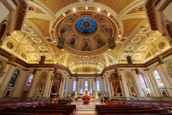 Interior of Cathedral Basilica of St. Joseph Church