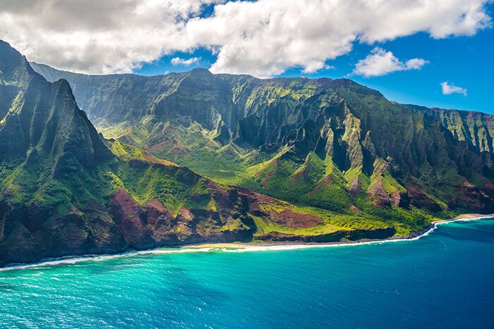 Kauai island on Hawaii