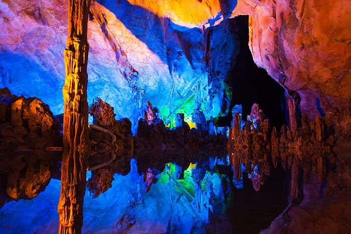 Reed Flute Caves in Guilin ,China