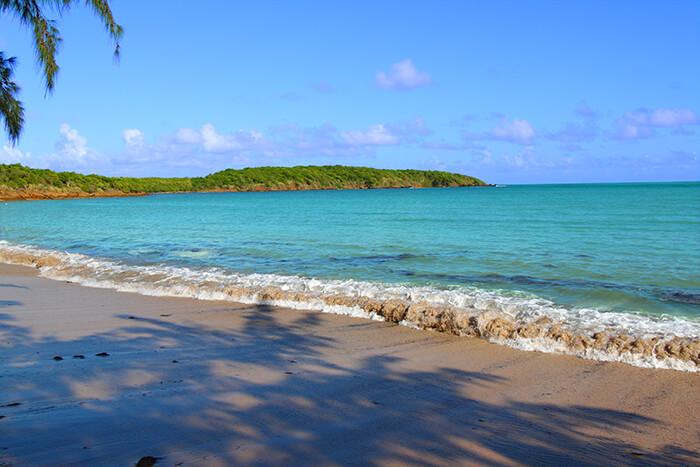Seven Seas Beach near Fajardo in Puerto Rico