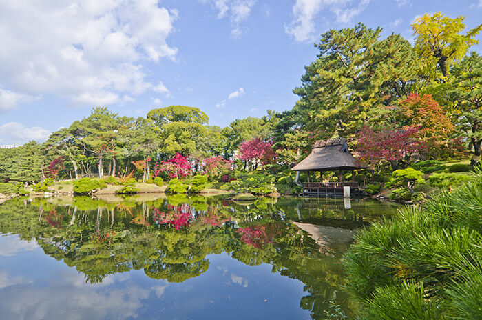 Shukkeien Japanese garden in Hiroshima
