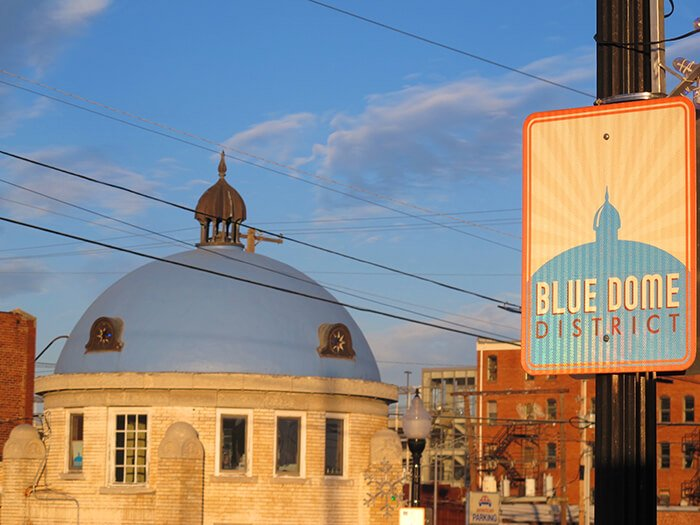 The Blue Dome District in Tulsa