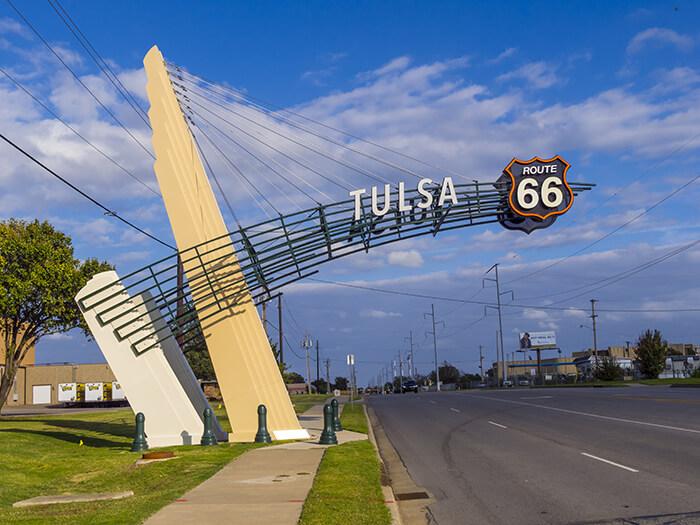 Tulsa Gate on historic Route 66