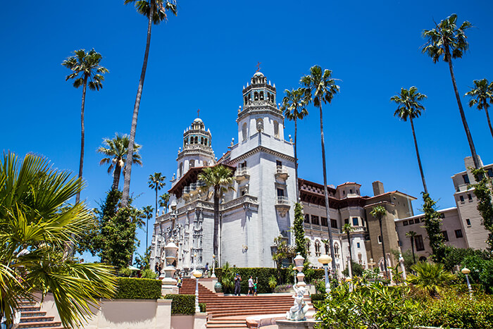 East side view of Hearst Castle