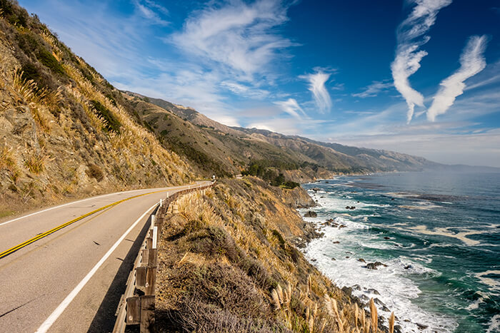 Highway 1 on the pacific coast, California
