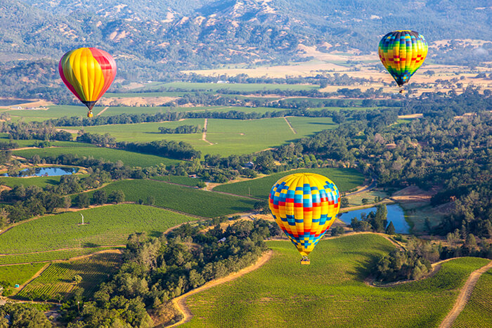 Hot Air Balloon Trip in Napa Valley