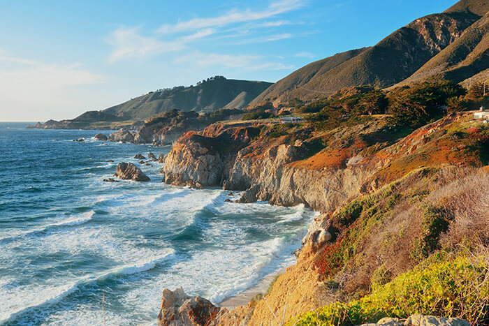 Seascape in Big Sur in California