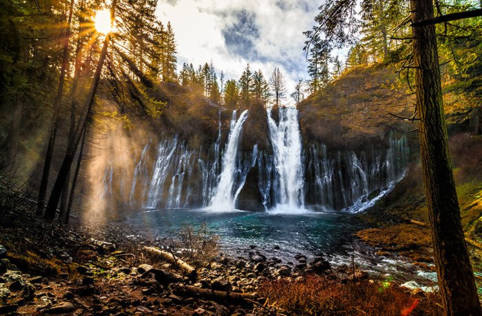 Sunrise on Burney Falls