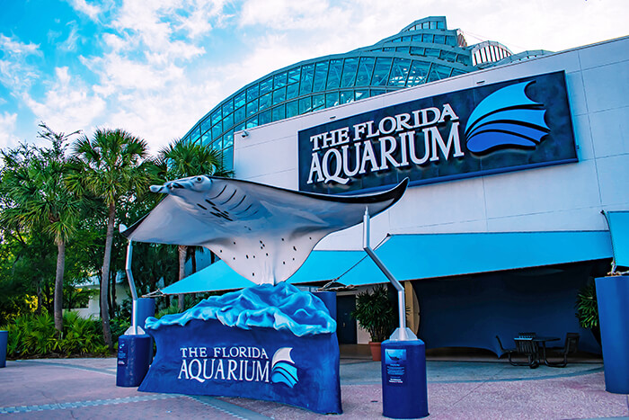 The Florida Aquarium main entrance