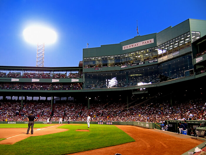Baseball game in Fenway Park, Boston