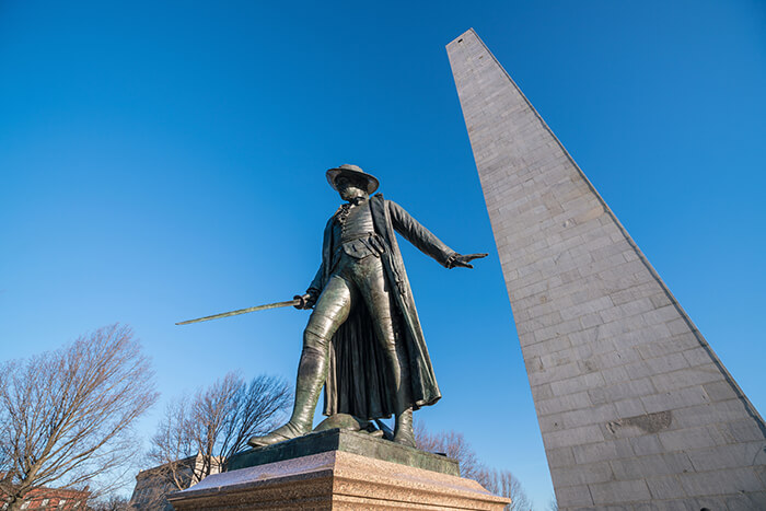 Bunker Hill Monument in Boston
