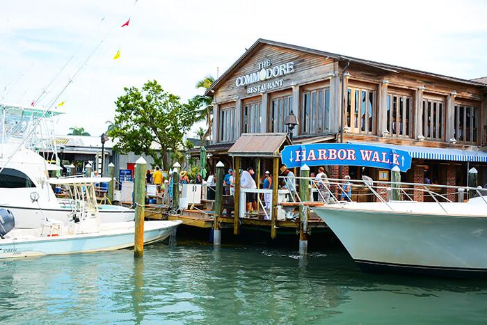 Historic seaport Harbor Walk on Key West