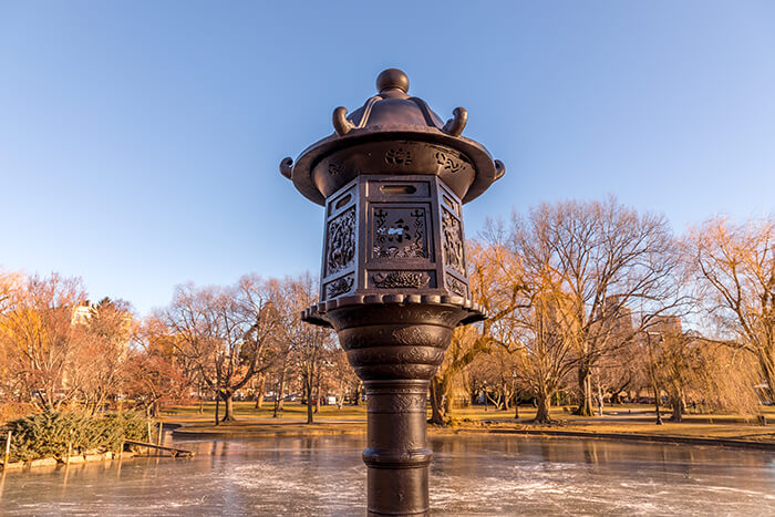 apanese Lantern Sculpture in Boston Public Garden