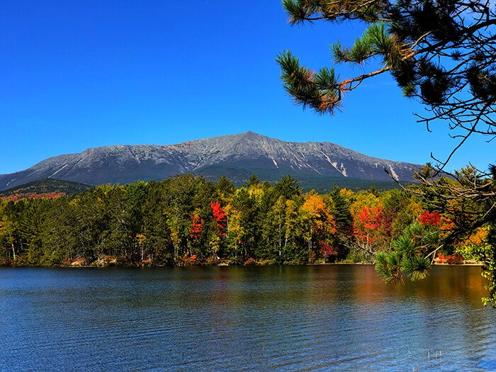 Maine's Mount Katahdin in the fall